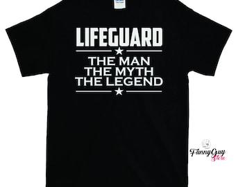 Lifeguard - The Man The Myth The Legend T-shirt - Gift For Lifeguard - Coworker Gift - Lifeguard Shirt - Best Lifeguard Tee