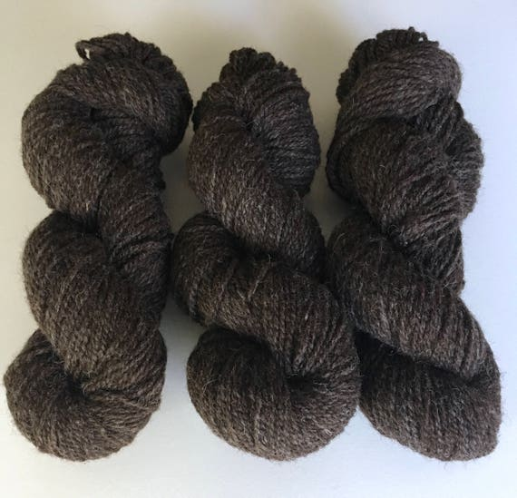 2 ply Natural Brown 100% non super wash - DK to Light Worsted - 200 yards 100 grams