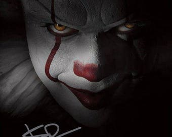 BILL SKARSGARD Signed Photo 8x10 rp Autographed Pennywise The Clown * It
