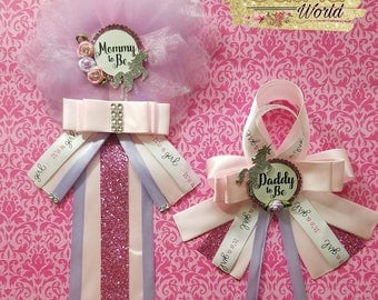 Unicorn Baby Shower Corsage/ Mommy To Be/ Daddy To Be/ Baby Shower Pin/ Unicorn Theme/ Baby Girl
