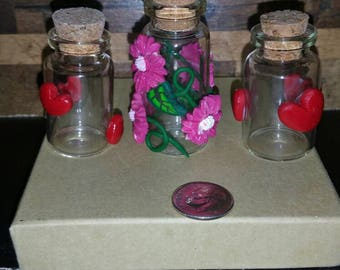 Mini Glass bottles w cork