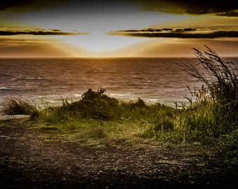 Oregon Sunset, Coast, Sunset, Ocean, Landscape, Photo Print