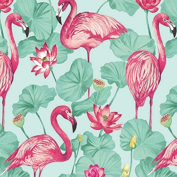 tissu flamants roses exotiques tissu flamingo exotic. Black Bedroom Furniture Sets. Home Design Ideas
