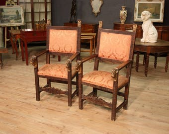 Antique pair of armchairs from 19th century