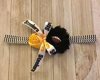 Steelers Headband, Steelers, Pittsburgh Steelers, Pittsburgh Steelers Headband, Baby Headband, Little girl footbal headband, Football