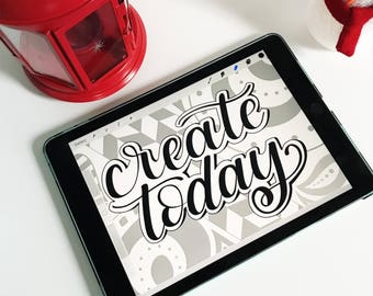 CREATE TODAY Printable Office Decor, Craft Room Wall Hanging, and Zentagle Coloring Page