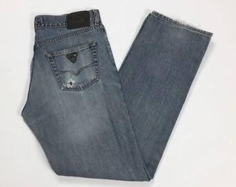 Guess jeans W33 T1759 tears 46/47 tears used straight boyfriend jeans