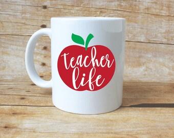 Teacher Life//Coffee Mug//Teacher Mug//Teacher Gift//Teacher Appreciation//Gift Idea//Teacher