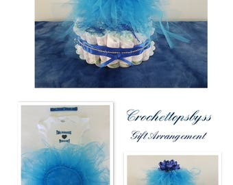 Infant Girls' Tutu Diaper Cake/Infant Gift Arrangement