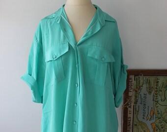 Blue vintage was spring shirt