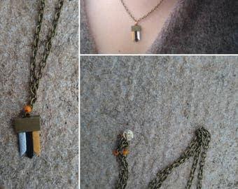 "Minimalist necklace ""Flax Flower """