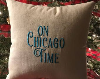On West Coast Time Pillow