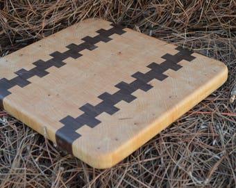 Maple and Walnut Endgrain Cutting Board