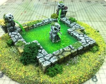 Wargame Scenery 28mm Terrain Acid/Toxic Fountain / Pool Warhammer Warmachine D&D Malifaux