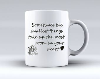 Sometimes the Smallest Things Take Up The Most Room In Your Heart Winnie The Poo 11oz MUG