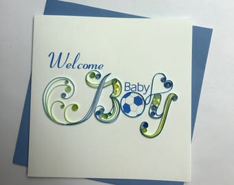 Baby Boy Quilling Greeting Card