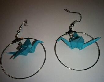 """""""Birds in flight"""" earrings in hoop (G_018)"""