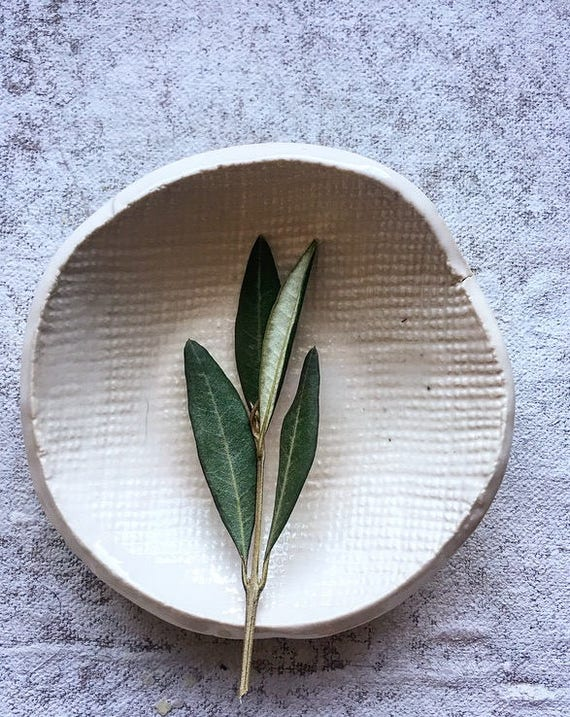 Winter White Small Porcelain Bowl