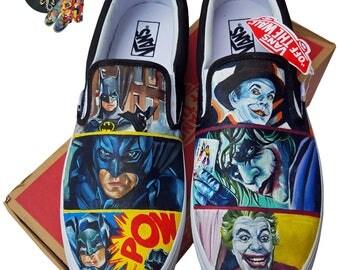 Batman Vs Joker Custom Vans