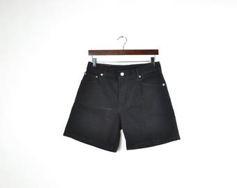 Vintage Black Levis High Waisted Denim Shorts