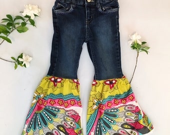 Kids Upcycled Bell Bottoms-size: 5