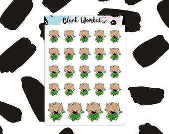 Pay Day Wombat Planner Stickers - Erin Condren - MulberryPOP - Various Planners