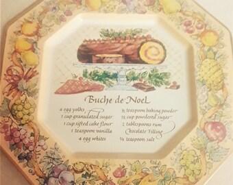 Vintage Avon Buche de Noel Tin Plate From 1980's