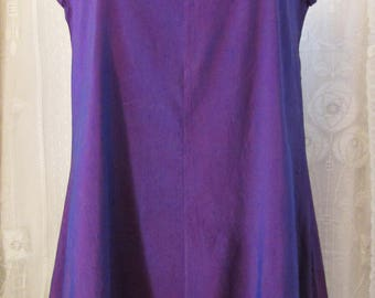 Purple silk tunic top