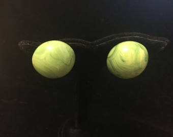 Vogue Green Marbled Earrings
