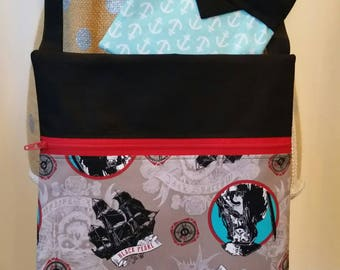 Handmade Purse by CMarie with Pirates of the Carribean Cotton Fabric