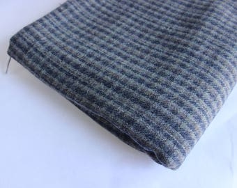 Blue/Gray large check wool mix