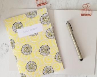Gratitude notebook - gratitude journal - gratitude notes - thankfulness notebook - gratitude practice - a5 notebook