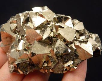 Pyrite | Octahedral Pyrite | Pyrite Cluster | Pyrite Crystal | Fool's Gold | Fool's Gold Crystal | Fool's Gold Cluster | Peru | 226 grams