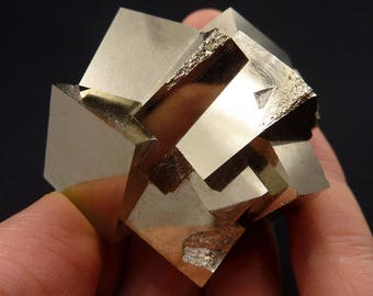 Pyrite | Pyrite Cube | Pyrite Crystal | Fool's Gold | Pyrite Cube Cluster | Pyrite Crystal Cube | Fool's Gold Cube | Spain | 182 grams