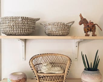 Rope coiled basket set / nesting baskets