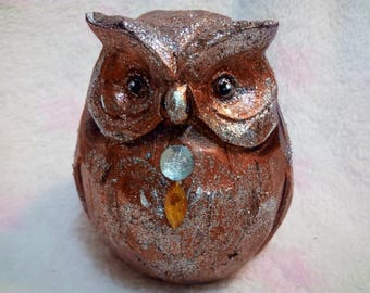 Smart Owl....Hand Painted Sculpture