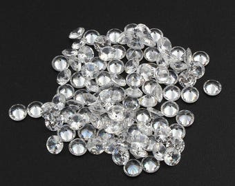 15 Pieces Crystal Cubic Zirconia Stones Diamond shape and rivoli back facet grade AAA 5mm 6mm 7mm