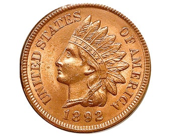 1892 Indian Head Cent - Gem BU / MS RD / Unc