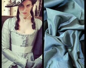 Custom Made Elizabeth Poldark Baby Blue 18th Century Taffeta Costume Gown