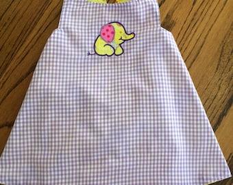 Baby girls sun dress, baby girls clothing set, baby girls reversible dress, baby girls criss-cross dress