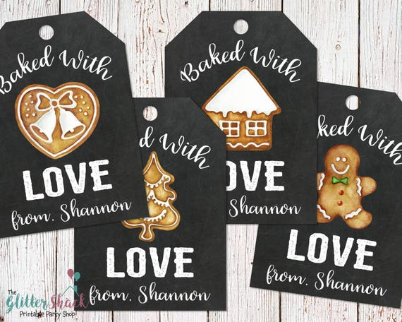 Baked With Love Gingerbread Cookies Gift Tags