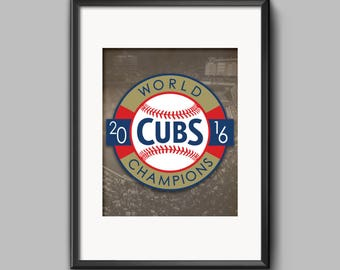 16x20 Chicago Cubs Man Cave Sports Bar Office Poster World Series 2016 Fly the W DIGITAL DOWNLOAD