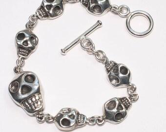 Silver Skulls Bracelet