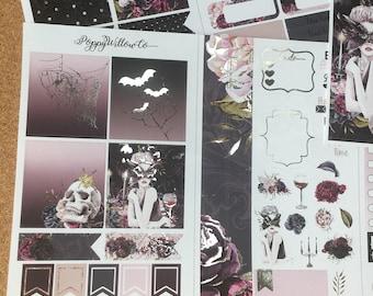 Femme Fatale Silver Foiled Travellers Note Book Sticker Set | Pocket Sized