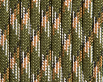 #12508-Paracorde army green camouflage by 30 feet 100 ft /