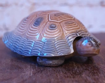 Extra Large Vintage Wade Turtle Trinket Dish Ornament