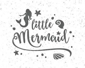 Little Mermaid SVG file Little Mermaid SVG Mermaid svg Baby Mermaid svg file Star file Mermaid Cut File Cricut Mermaid Silhouette svg