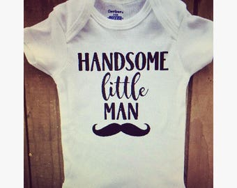 Handsome little man Onesie/Boy onesie/baby shower gift