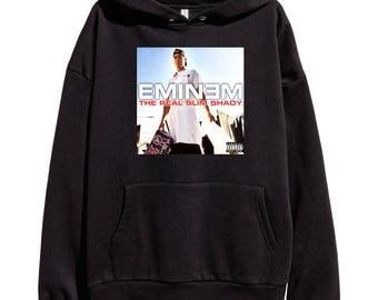 Eminem The Real Slim Shady Hoodie Classic Hip Hop Rap Vintage Style Sweatshirt Revival Slim Shady Records Aftermath Entertainment Detroit