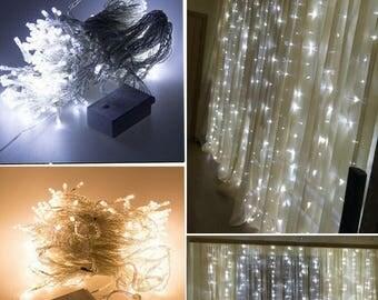 Waterproof Curtain Light  6mx3m (600leds),3mx3m (300 leds),2mx2m (200 lcds)